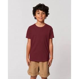 Camiseta niño Burdeos para personalización