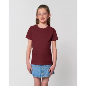 Camiseta niña Burdeos para personalización