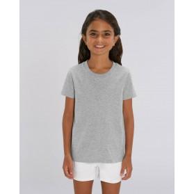 Camiseta niña Heather Grey para personalización