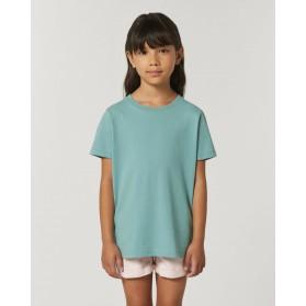 Camiseta niña Teal Monstera para personalización