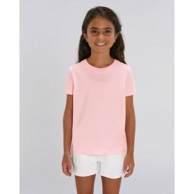 Camiseta niña Rosa Algodón para personalización